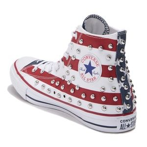 NEW🇺🇸Converse Ctas Red White and Blue